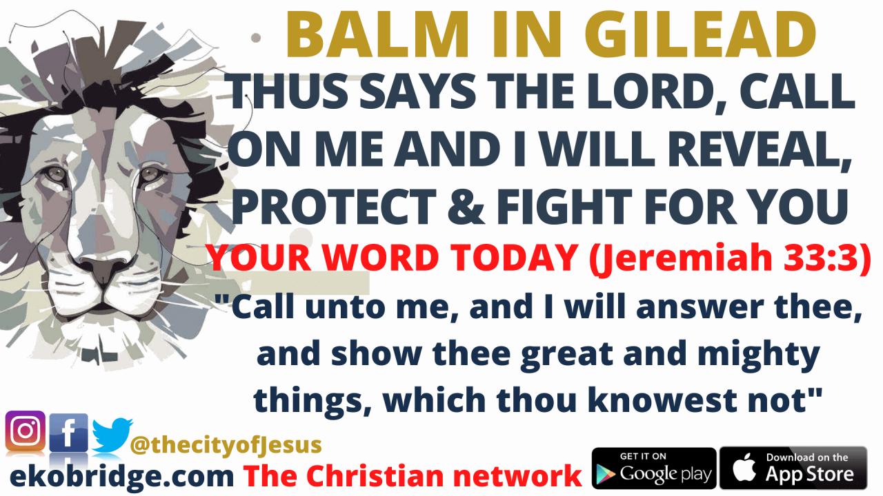 Jeremiah 33_3 - BALM IN GILEAD 1920 x 1080