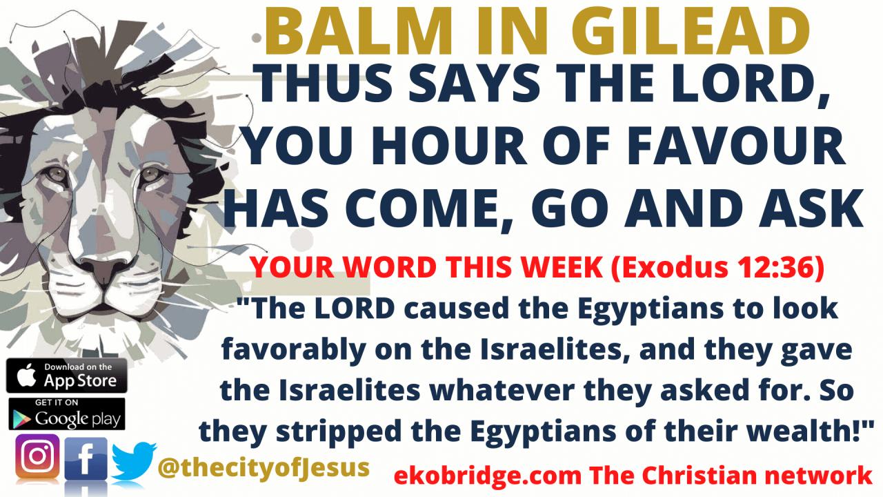 Exodus 12_36 - BALM IN GILEAD 1920 x 1080