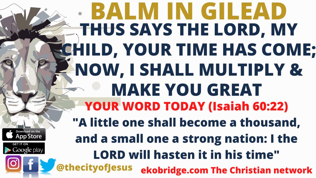 Isaiah 6022 - BALM IN GILEAD 1920 x 1080