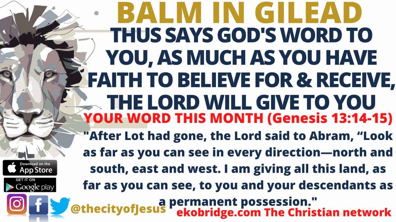 Genesis 1314-15 - BALM IN GILEAD 1920 x 1080